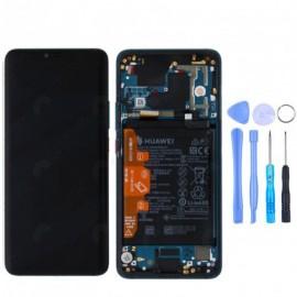Ecran complet (châssis + batterie) d'origine Huawei Mate 20 Pro Vert + outils