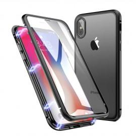 Coque intégrale magnétique noire iPhone X / XS