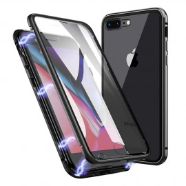 Coque intégrale magnétique noire iPhone 7 Plus / iPhone 8 Plus