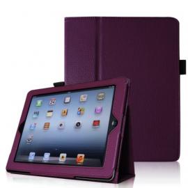 Etui cuir violet iPad 2 / 3 / 4