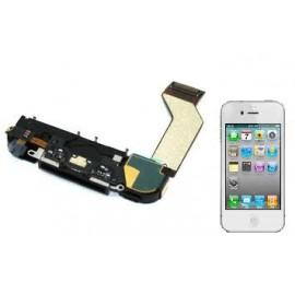 Connecteur de charge + buzzer iPhone 4S blanc
