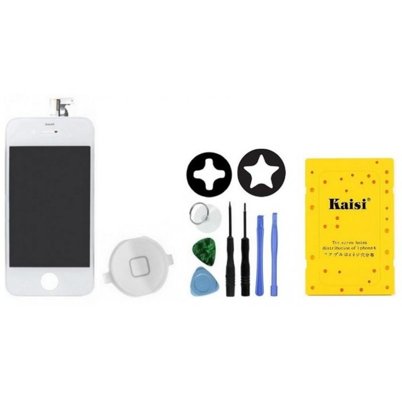ecran avant patron vis iphone 4s blanc tout pour phone. Black Bedroom Furniture Sets. Home Design Ideas
