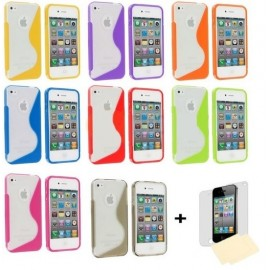 Housse silicone S-Line iPhone 4/4S + Film !