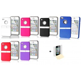 Coque chrome support iPhone 4/4S + Film !