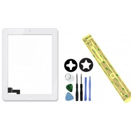 Vitre tactile iPad 4 Blanche + Outils