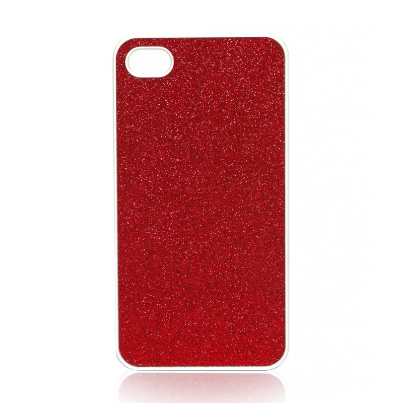 coque rigide rouge paillettes iphone 4 4s pas cher tout. Black Bedroom Furniture Sets. Home Design Ideas