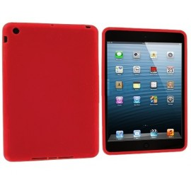 Coque rouge silicone iPad Mini 1/2/3