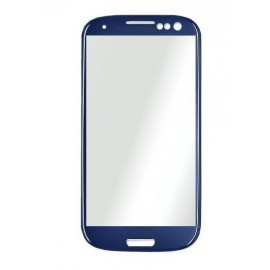 Vitre tactile seule Samsung Galaxy S3 Bleu