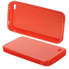 Coque silicone TPU color rouge iPhone 4/4S