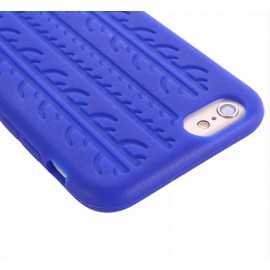 Coque silicone Pneu bleu iPhone 6 / 6S