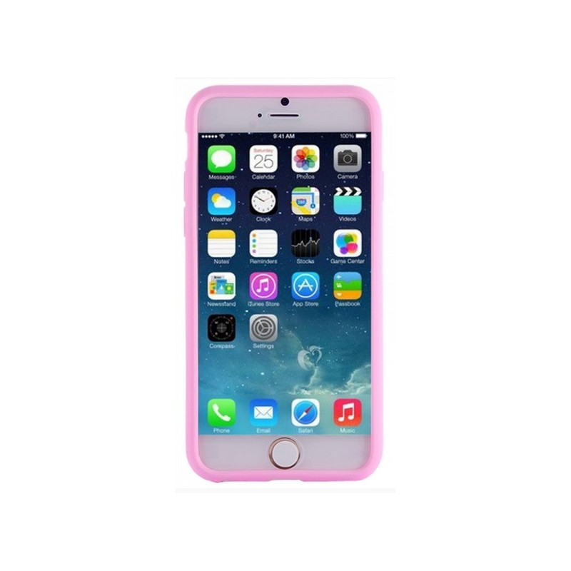 coque iphone 6 silicone rose pale