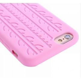 Coque silicone Pneu rose iPhone 6 / 6S