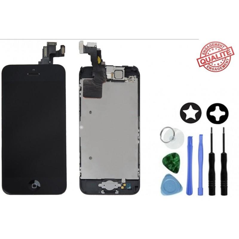 Ecran remplacement complet iphone 5c noir tout pour phone for Ecran photo noir iphone