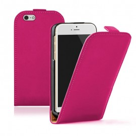 Etui cuir rose iPhone 6