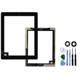 Vitre tactile complète pour iPad 2 noir
