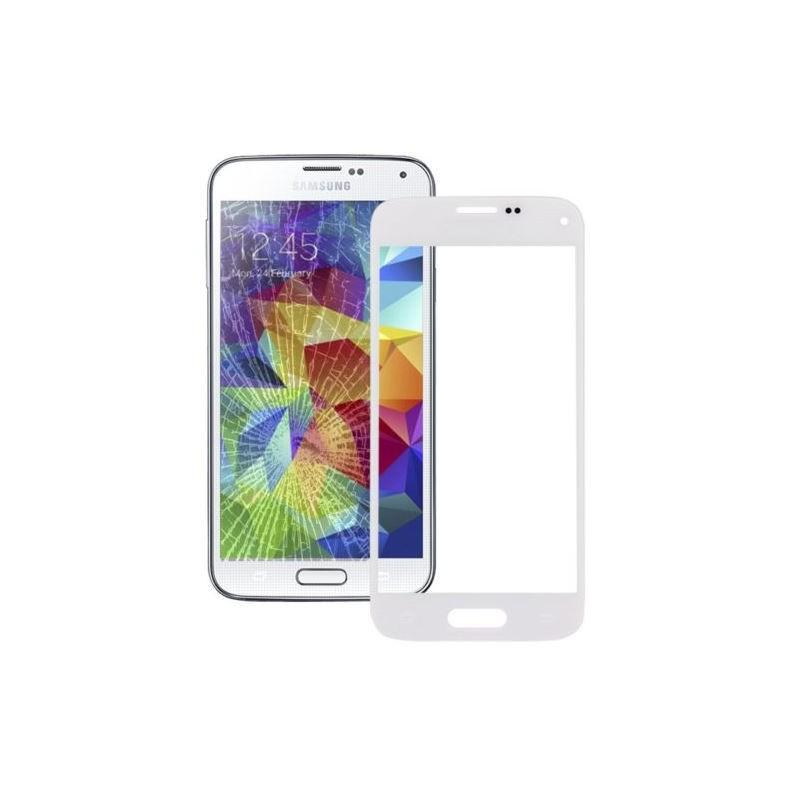 vitre seule samsung galaxy s5 mini blanc tout pour phone. Black Bedroom Furniture Sets. Home Design Ideas