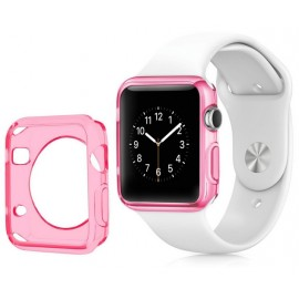 Coque silicone Apple Watch 42mm Rose