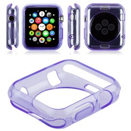 Coque silicone Apple Watch 42mm Violet