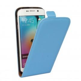 Etui cuir à clapet Samsung Galaxy S6 Bleu ciel