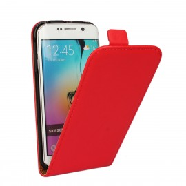 Etui cuir à clapet Samsung Galaxy S6 Rouge