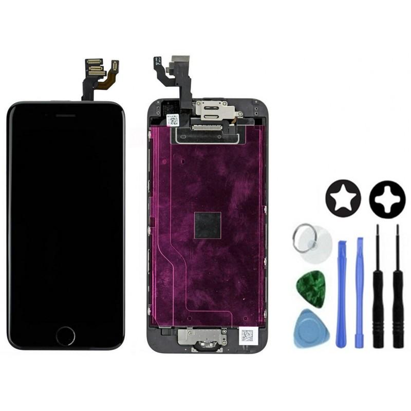 Ecran complet pour iphone 6 noir avec outils tout pour phone for Ecran photo noir iphone