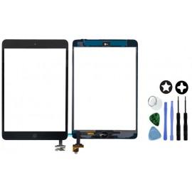 Vitre tactile noire connecteur soudé iPad mini 1/2