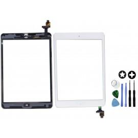 Vitre tactile blanche avec connecteur soudé iPad mini