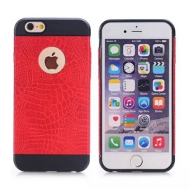 Coque silicone Croco iPhone 6 Plus / 6s Plus Rouge