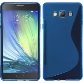Coque silicone S-line Samsung Galaxy A3 Bleu ciel